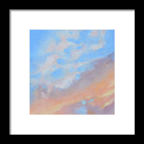 Oil Framed Print featuring the painting Poet's Sky by Mary Chant
