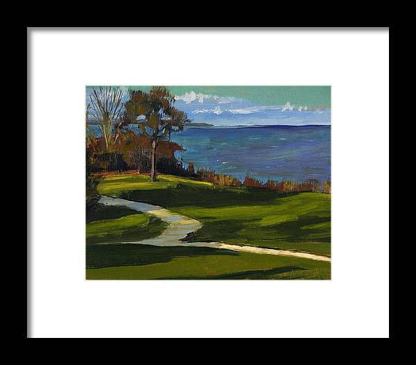 Plein Air Framed Print featuring the painting Sheridan Park No.5 by Anthony Sell