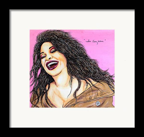 Artist Framed Print featuring the mixed media She's Every Woman by Joseph Lawrence Vasile