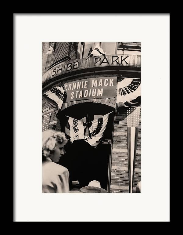 Shibe Park - Connie Mack Stadium Framed Print featuring the photograph Shibe Park - Connie Mack Stadium by Bill Cannon