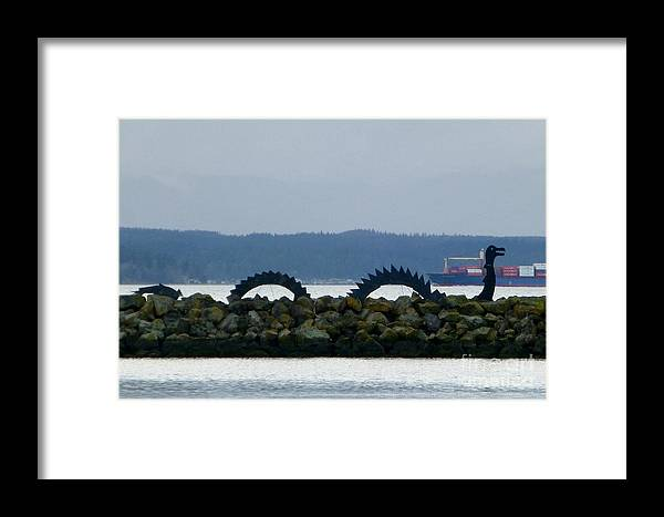 Sea Serpent Framed Print featuring the photograph Shilshole Sea Serpent by As the Dinosaur Flies Photography