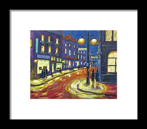 Night Framed Print featuring the painting Shimmering Night by Richard T Pranke