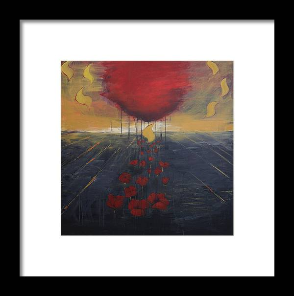 Landscape Framed Print featuring the painting Shin by Cecilia August Sand