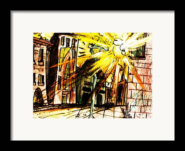 City Framed Print featuring the painting Shine On by Josh Burns