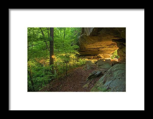 Framed Print featuring the photograph Shining Through.... by Ulrich Burkhalter