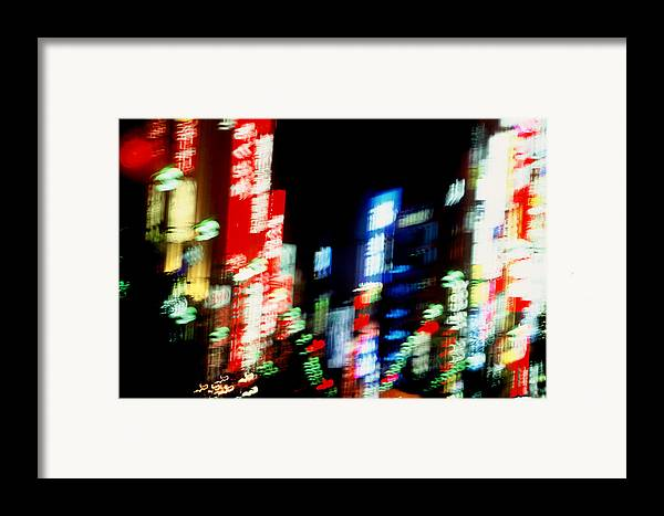 Neon Framed Print featuring the photograph Shinjuku Abstraction by Brad Rickerby