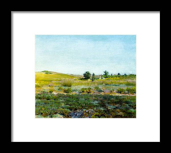 Nature Framed Print featuring the painting Shinnecock Hills, Summer - William Merritt Chase by William Merritt Chase
