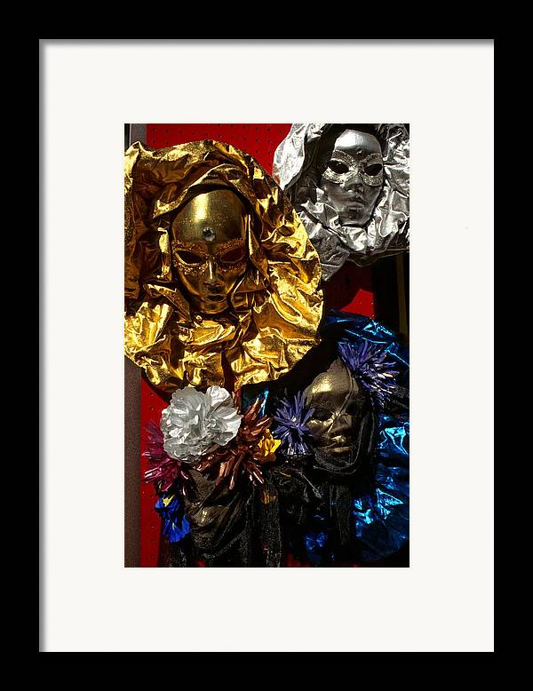 Venice Framed Print featuring the photograph Shiny Masks In Venice by Michael Henderson