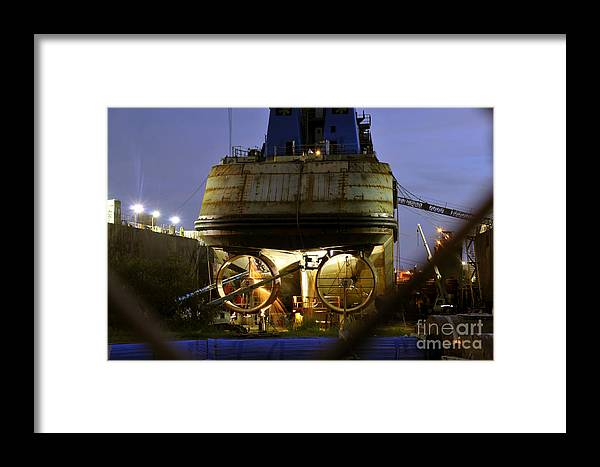 Shipyard Framed Print featuring the photograph Shipyard Work by David Lee Thompson