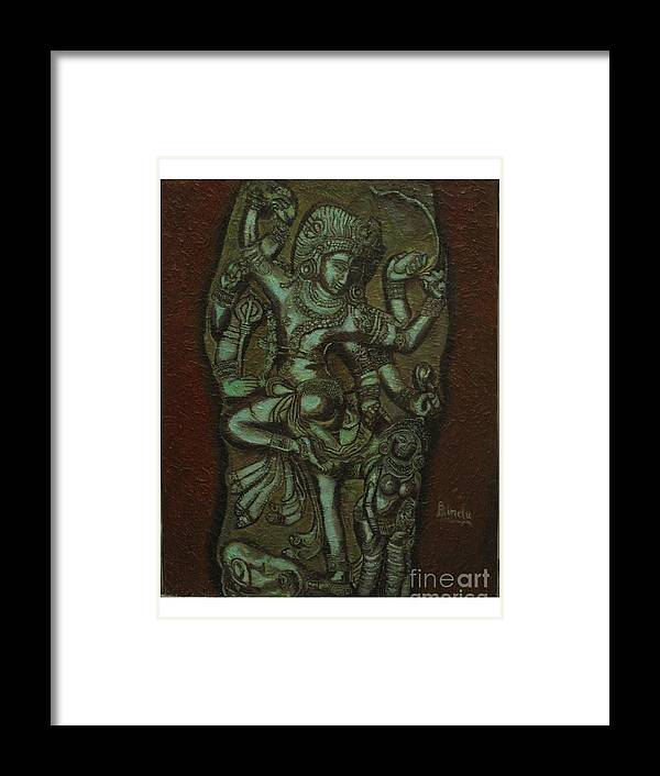 Shiva Framed Print featuring the painting Shiva by Bindu Bajaj