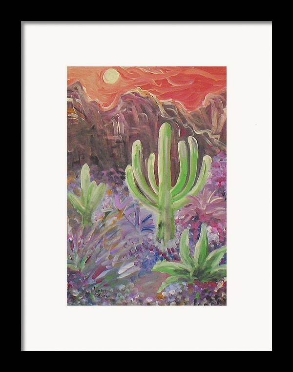Landscape Framed Print featuring the painting Shivering Sunrise by Lindsay St john