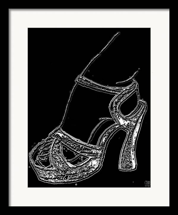 Shoe Female Figure Erotica Erotic Framed Print featuring the digital art Shoe In by Cartoon Hempman