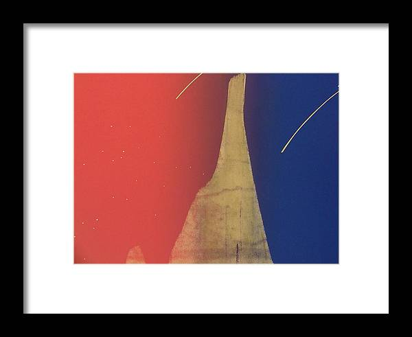 Shooting Stars Framed Print featuring the painting Shooting Star by Gary Kaemmer