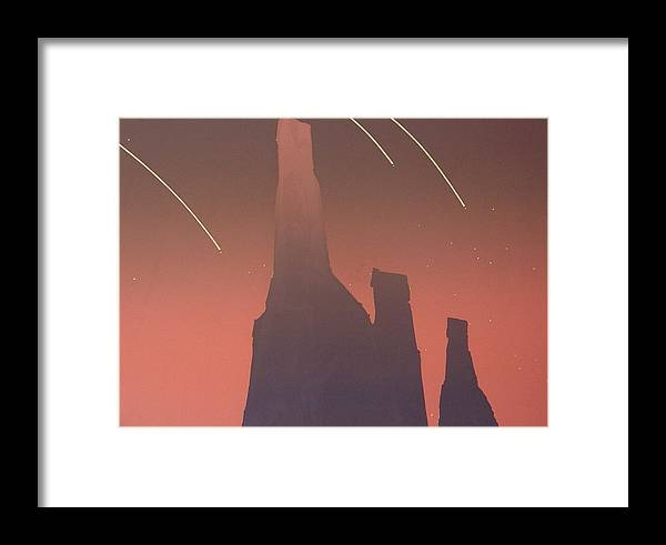 Shooting Stars Framed Print featuring the painting Shooting Star II by Gary Kaemmer