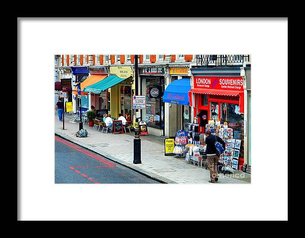 Shop Framed Print featuring the photograph Shop And Restaurant by Hussein Kefel