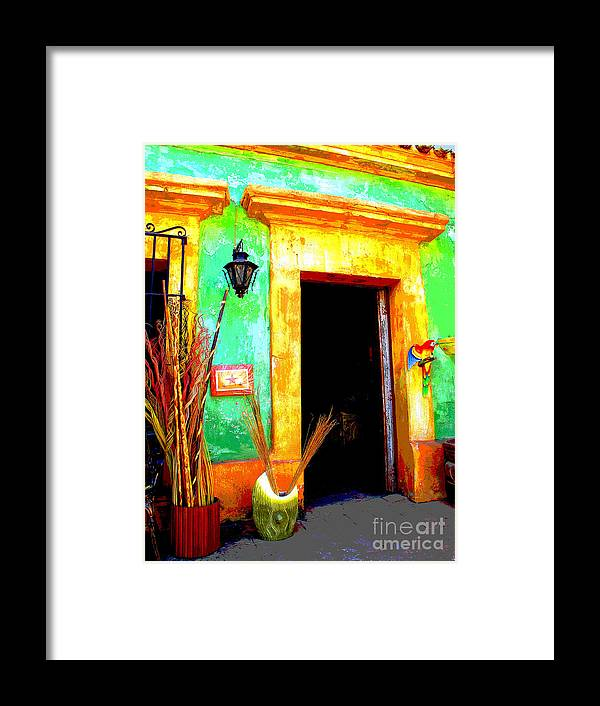Darian Day Framed Print featuring the photograph Shop El Quilete By Darian Day by Mexicolors Art Photography