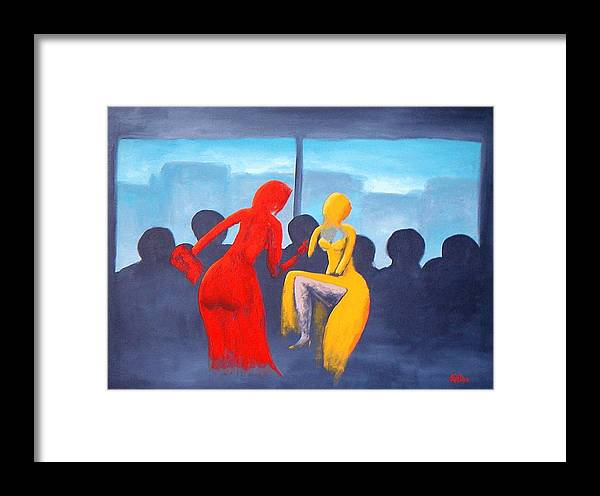 Shopping Framed Print featuring the painting Shopping Day by Poul Costinsky