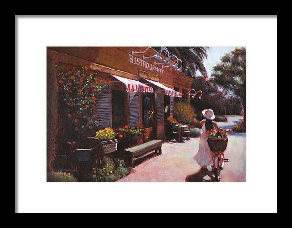 Wine Framed Print featuring the painting Shopping Wine In Napa Valley by Takayuki Harada