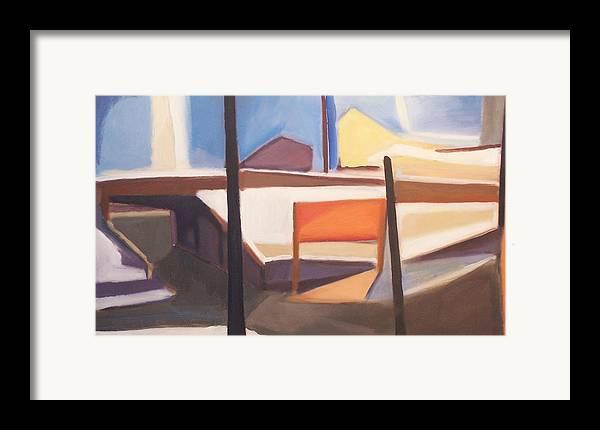 Suburban Framed Print featuring the painting Shore Ave Trestle Study Bogota Nj by Ron Erickson