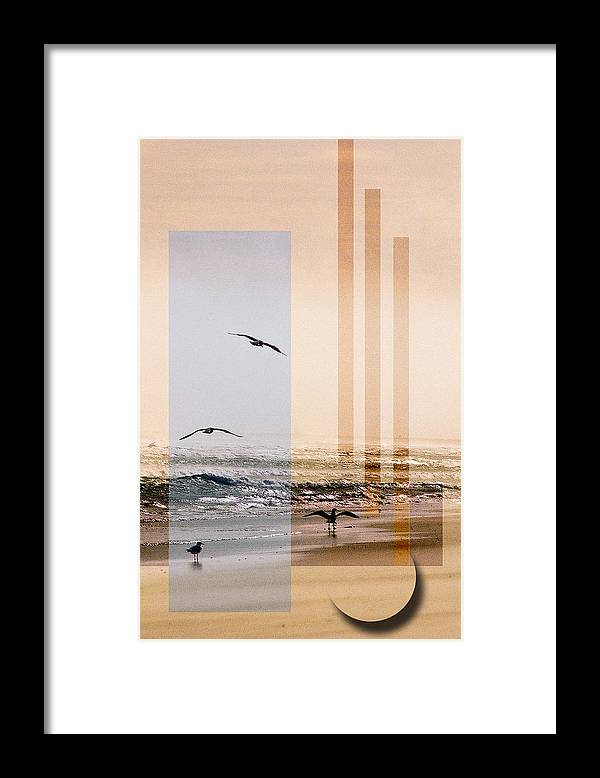 Abstract Framed Print featuring the photograph Shore Collage by Steve Karol