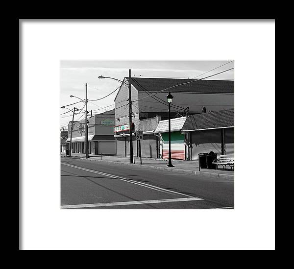 Jersey Shore Framed Print featuring the photograph Shore Town In February by Frank Nicolato