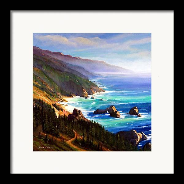 Seascape Framed Print featuring the painting Shore Trail by Frank Wilson