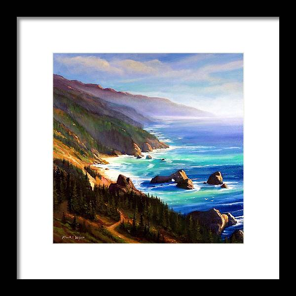 Shore Trail Framed Print featuring the painting Shore Trail by Frank Wilson