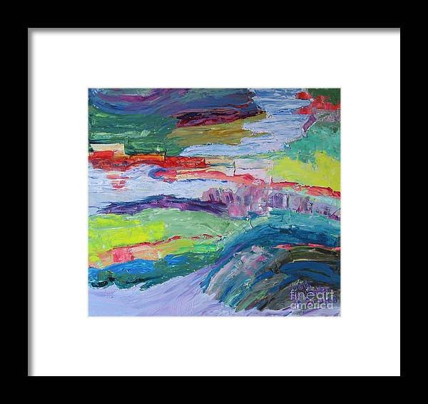 Landscape Framed Print featuring the painting Shoreline by Judith Espinoza