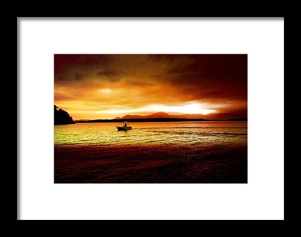 Landscape Framed Print featuring the photograph Shores Of The Soul by Holly Kempe