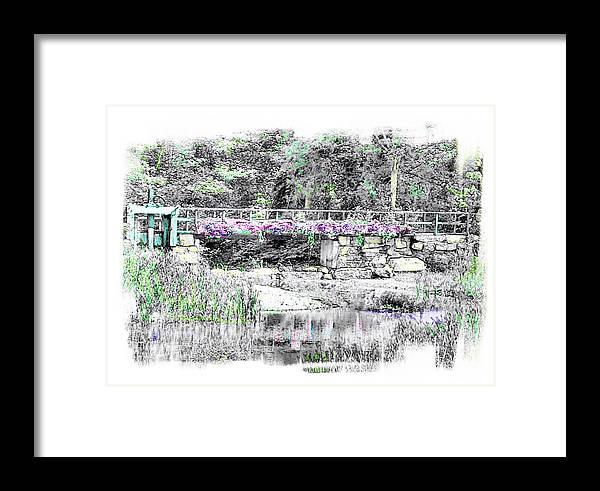 Bridge Framed Print featuring the photograph Shorey Park Bridge by Rose Guay