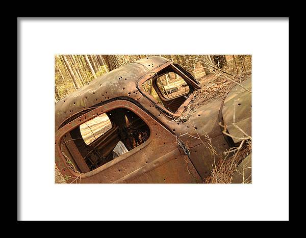 Old Truck Framed Print featuring the photograph Shot To Rot by Maureen Norcross