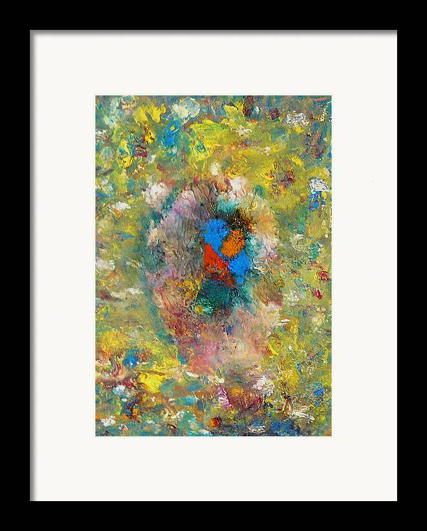 Abstract Framed Print featuring the painting Shout by Greg Gierlowski