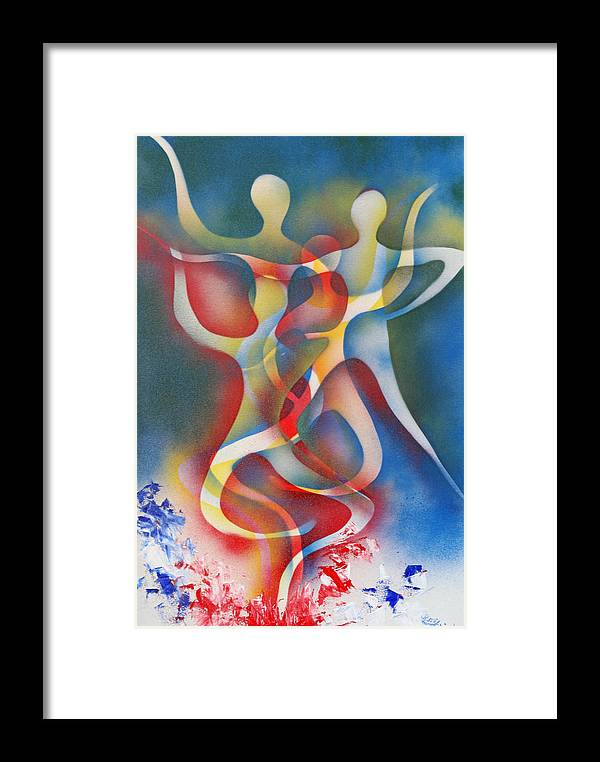 Dance Framed Print featuring the painting Shout Of The Sprites by Roy Woods