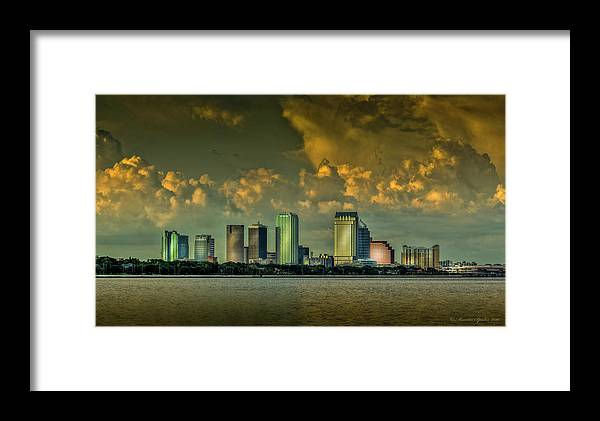Bay Shore Framed Print featuring the photograph Showers Tonight by Marvin Spates