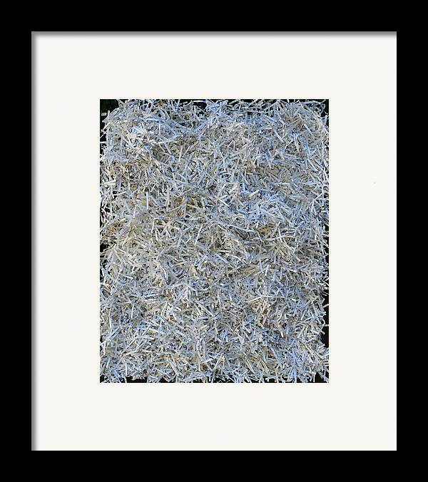 Framed Print featuring the mixed media Shredded by Biagio Civale