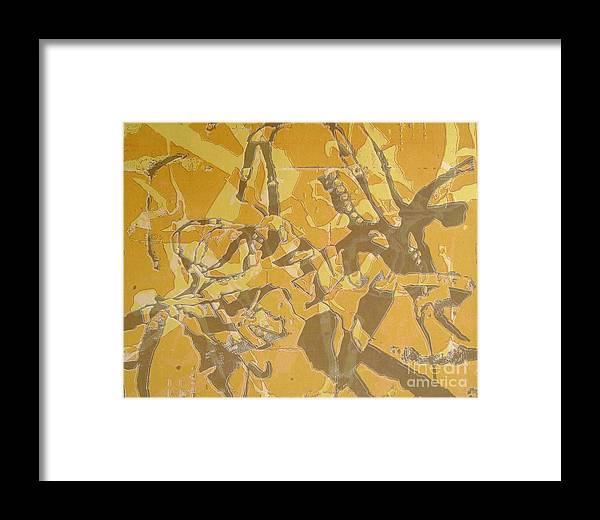 Abstract Framed Print featuring the digital art Shredded Notebook Stencil by Ron Bissett
