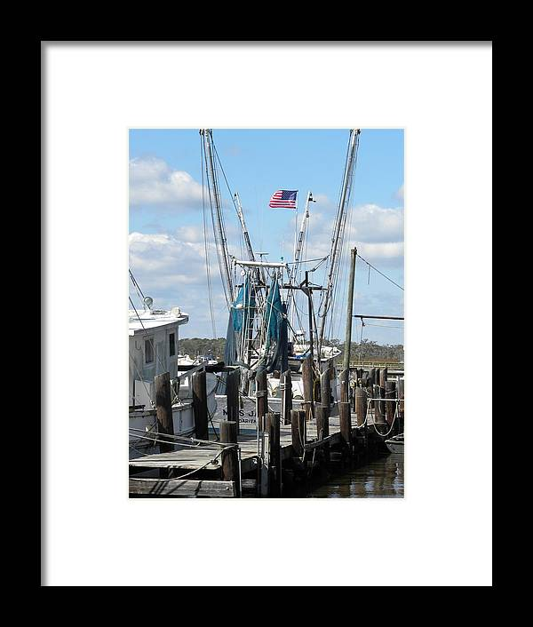 Shrimp Boats Framed Print featuring the photograph Shrimp Boat by Kim Zwick