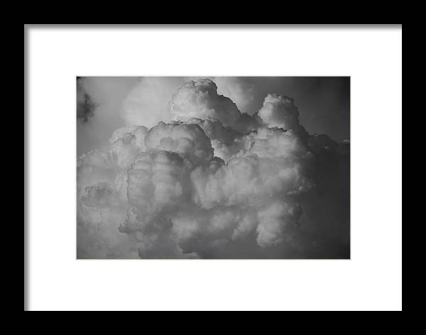 Black And White Framed Print featuring the photograph Shrimp Clouds by Rob Hans