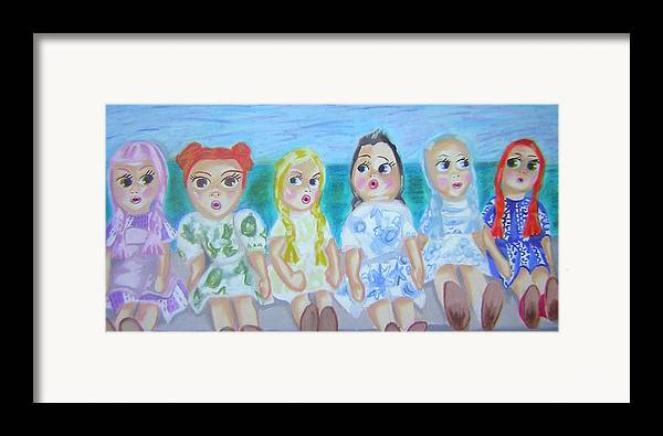 Dolls Framed Print featuring the painting Shut Up And Look Pretty by Michelley QueenofQueens