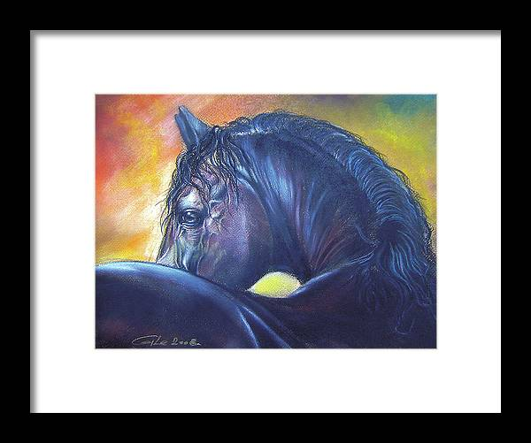 Animal Framed Print featuring the painting Shy by Dragan Gilic
