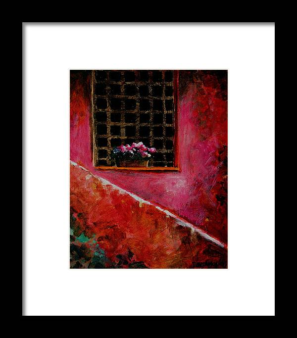 Window Framed Print featuring the painting Sicilian Window by Jun Jamosmos