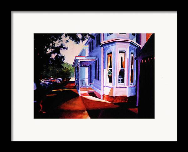 Lambertville Framed Print featuring the painting Side Street - Lambertville by Robert Henne