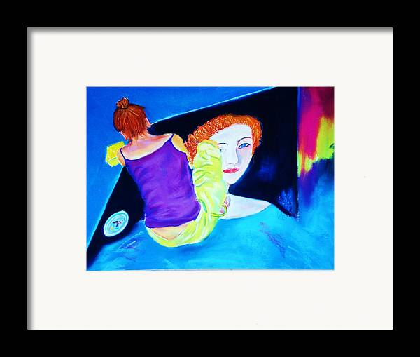 Painting Within A Painting Framed Print featuring the print Sidewalk Artist II by Melinda Etzold