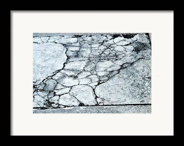 Torso Framed Print featuring the digital art Sidewalk Torso by John Toxey