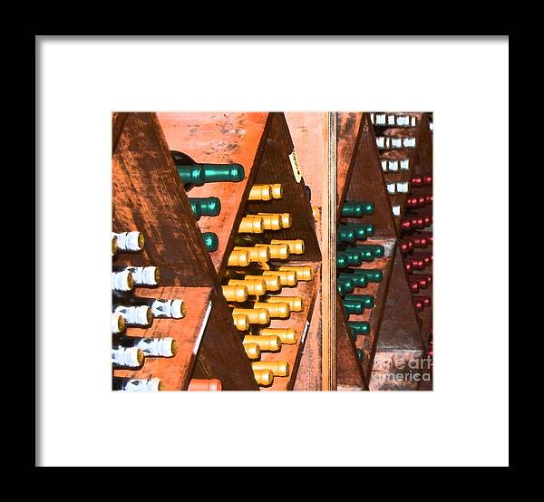 Wine Framed Print featuring the photograph Sideways by Debbi Granruth