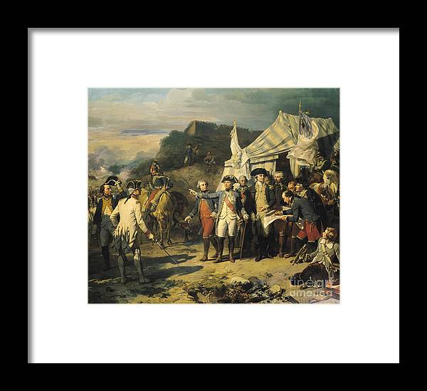 Siege Framed Print featuring the painting Siege Of Yorktown by Louis Charles Auguste Couder