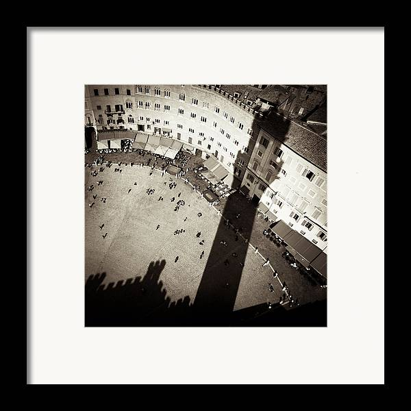 Siena Framed Print featuring the photograph Siena From Above by Dave Bowman