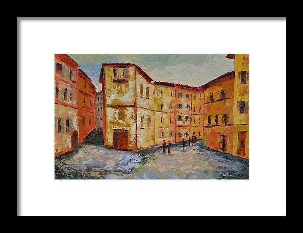 Siena Italy Framed Print featuring the painting Siena Italy by Ginger Concepcion