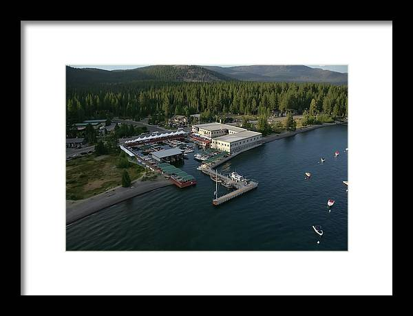 Boat Framed Print featuring the photograph Sierra Boat Aerial by Steven Lapkin