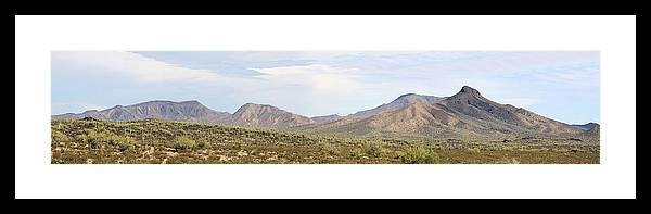 Photography Framed Print featuring the photograph Sierra Estrella Mountains Panorama by Sharon Broucek